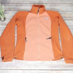 The North Face | Small Orange Fleece Zip Jacket